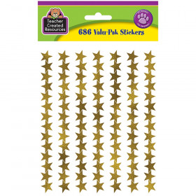 Gold Foil Star Stickers Valu-Pak
