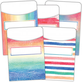 Watercolor Library Pockets