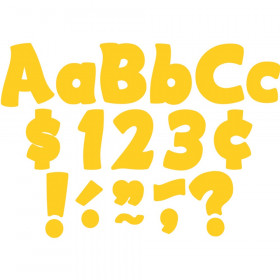 """Yellow Gold Funtastic 4"""" Letters Combo Pack"""