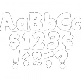 """White Funtastic 4"""" Letters Combo Pack"""