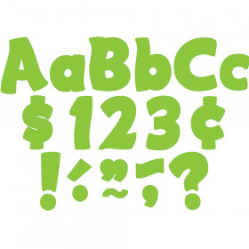 """Lime Funtastic 4"""" Letters Combo Pack"""