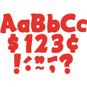 """Red Funtastic 4"""" Letters Combo Pack"""