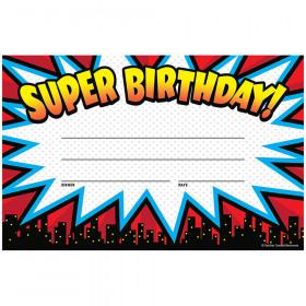 Superhero Super Birthday Awards