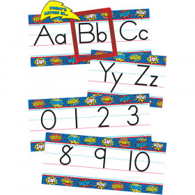 Superhero Alphabet Line Bulletin Board