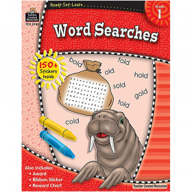 ReadySetLearn Word Searches, Grade 1