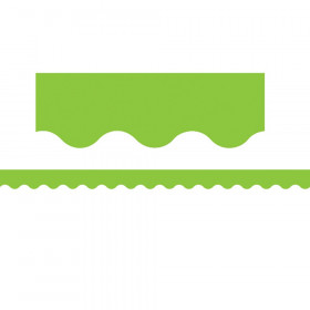 Lime Scalloped Border Trim