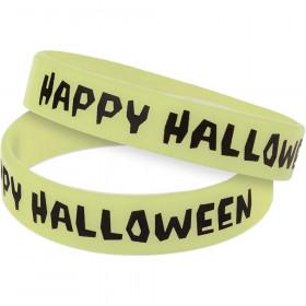 Happy Halloween Glow-in-the-Dark Wristbands