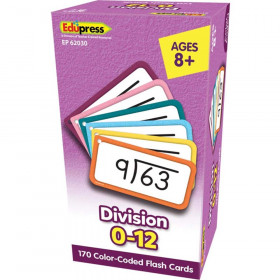 Division Flash Cards - All Facts 0-12