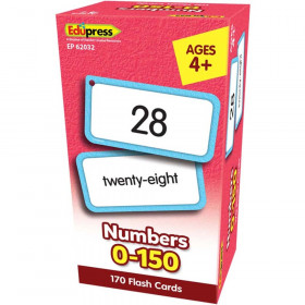 Numbers 0-150 Flash Cards
