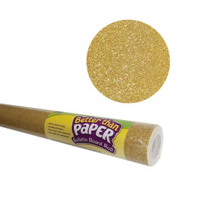 Better Than Paper Bulletin Board Roll, 4' x 12', Gold Shimmer, 4 Rolls