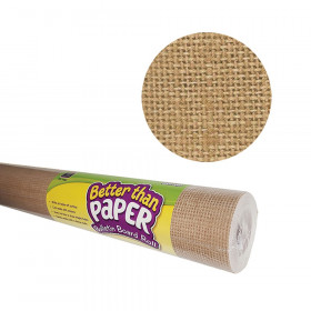 Better Than Paper Bulletin Board Roll, 4' x 12', Burlap, 4 Rolls