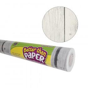 Better Than Paper Bulletin Board Roll, 4' x 12', White Wood, 4 Rolls