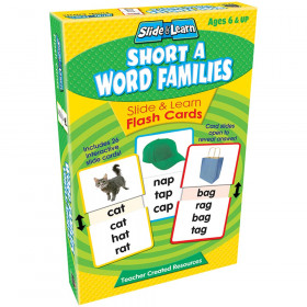 Vowels Short A Word Families Slide & Learn Flash Cards