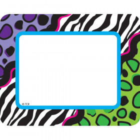 Colorful Leopard Name Tags/Labels