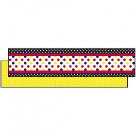 Black Yellow Dot Ribbon Runners