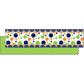Lime Navy Dot Ribbon Runner