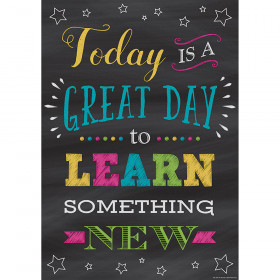 Today Is a Great Day to Learn Something New Positive Poster