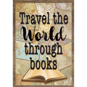 Travel the World Through Books Positive Poster