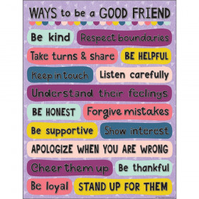 """Oh Happy Day Ways to be a Good Friend Chart, 17"""" x 22"""""""