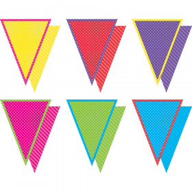Brights Pennants With Pizzazz