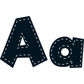 """4"""" Fun Font Letters, Black Stitch, 160 Pieces"""