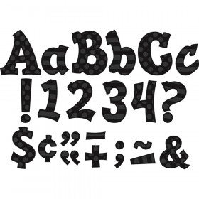 """Black Sassy Solids 5"""" Letters"""