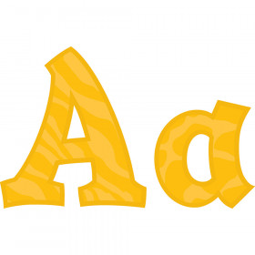 """Amber Gold Sassy Animal 5"""" Letters"""