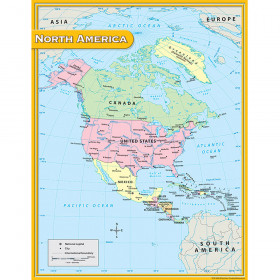North America Map Chart