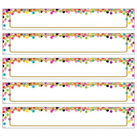 Large Confetti Labels Magnetic Accents