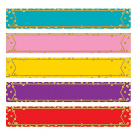 Large Confetti Colorful Labels Magnetic Accents