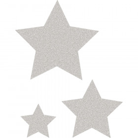 Silver Glitz Stars Accents, Assorted Sizes