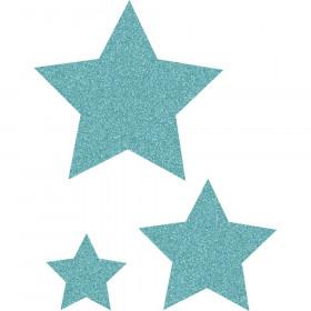Ice Blue Glitz Stars Accents, Assorted Sizes