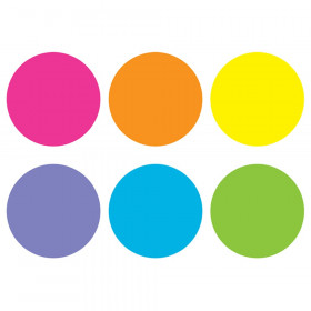 "Spot On Floor Markers, Bright Circles, 4"" Carpet"
