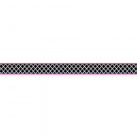 Black & Pink Wild Moroccan Double-Sided Border