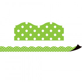 Lime Polka Dots Magnetic Border
