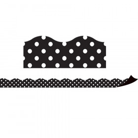 Magnetic Borders, Black Polka Dots, 24 Feet