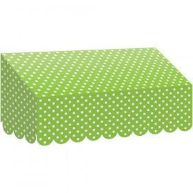 Lime Polka Dots Awning