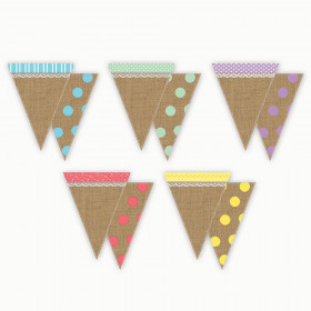 Shabby Chic Pennants, Pack of 16