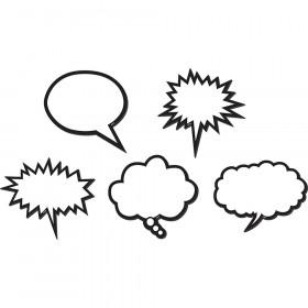 Black & White Speech Bubbles Magnetic Accents