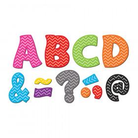 "Chevron Funtastic Font 3"" Magnetic Letters, 67 Pieces"