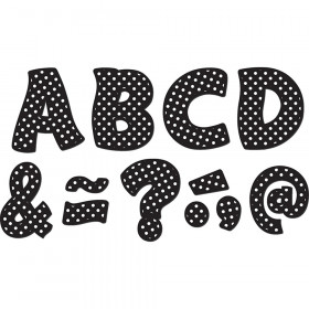 "Black Polka Dots Funtastic Font 3"" Magnetic Letters"