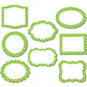 Lime Polka Dots Frames Magnetic Accents