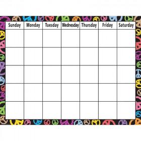 Peace Signs Calendar Chart