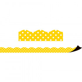 Yellow Polka Dots Magnetic Border