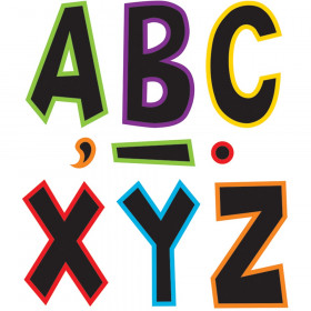 "Electric Bright 7"" Fun Font Letters"
