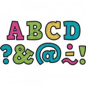 Clingy Thingies Letters, Chalkboard Brights Bold Block