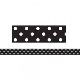 Black Polka Dots Strips Clingy Thingies