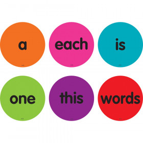 """Spot On Sight Words 1-50 Carpet Markers, 4"""""""