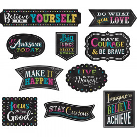 Positive Sayings Accents Chalkboard Brights Clingy Thingies