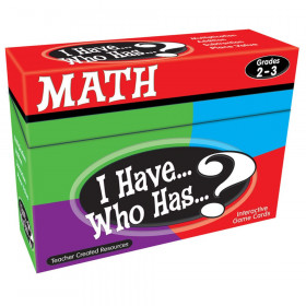 I Have, Who Has Math Game, Grade 2-3